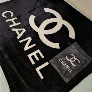 Chanel fleece blanket 130x150cm